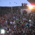 publiek, dakscene-stunt, polderde kermis