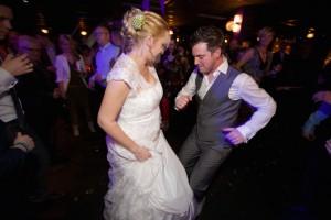 bruidspaar, dansen, feest, dj, leuk,