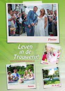 Leven in de trouwerij flyer - bruiloft